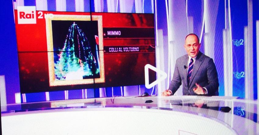 Lalbero Di Natale Di Colli A Volturno Finisce Su Rai Due In Diretta Nazionale Sul Tg News
